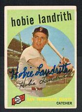 Hobie Landrith #422 signed autograph auto 1959 Topps Baseball Trading Card