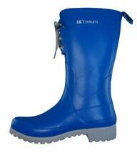 Botas de mujer azules, plano (menos de 2,5 cm)
