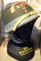 1/4 Scale Gearbox  WWII D Day 7th U.S.Navy Omaha Beach Battalion M1 Helmet