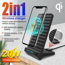 20W Wireless Charger Fast Charging Dock Stand For Airpods iPhone Samsung ONY