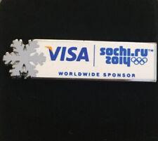 Sochi 2014 Winter Olympic Visa VIP Snowflake Pin Badge