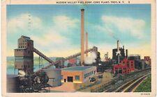 Troy NY Hudson Valley Fuel Corp Coke Plant Linen 1952