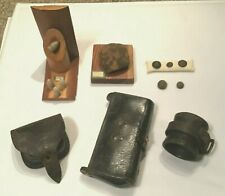 Spanish American War Relics Shell Ammo Case Leather Satchel Watervliet Buttons