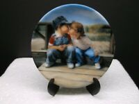 """""""First Kiss"""" Pemberton & Oakes 3"""" Plate by Artist Donald Zolan MADE IN THE USA"""