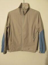 V7470 Cloudveil Gray/Blue Striped Zip Up Nylon Light Jacket Men's M