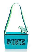 Victoria's Secret Pink Zip-Up BLUE Indigo Cooler Key Chain Dog Lunch Box Bag