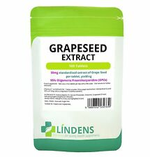 Lindens Red Grape Seed Extract 50mg 100 Tablets Anthocyanin Grapeseed
