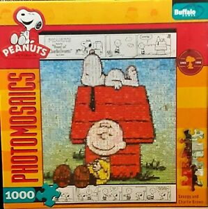 Photomosaics Snoopy and Charlie Brown 1000 Piece Jigsaw Puzzle