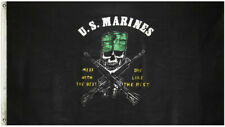 U.S. Marines Special Forces Mess with the Best Die like Rest 3x5 Flag Knitted