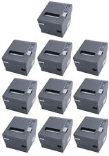 (Lot of 10) Epson TM-T88IV POS Thermal Printer, Dark Grey, Parallel Interface