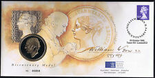 Royal Mint Medallion Cover - Bicentenary Medal William Wyon R.A. 1795-1851 1995