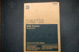 CAT Caterpillar D6D Tractor Dozer Crawler Parts Manual Book catalog shop 1984