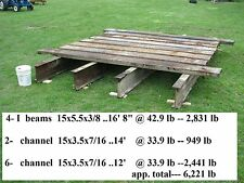 USED HEAVY STEEL I BEAM  CHANNEL IRON - WAS USED FOR A BRIDGE