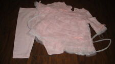 BOUTIQUE BABY BISCOTTI 3M 3 MONTHS PINK RUFFLED DRESS LEGGING SET
