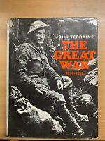 "1965 1ST EDITION JOHN TERRAINE ""THE GREAT WAR 1914-1918"" HUGE HARDBACK BOOK (P8)"