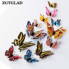 12pcs/set 3d Butterfly Luminous Magnetic Sticking Wall Stickers Home Decoration