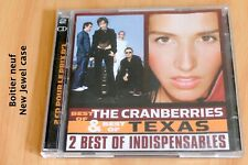 The Cranberries & Texas - Best of - 36 titres - 2 CD Universal