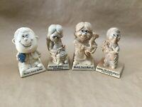 Lot of 4 Vintage 1970's R & W Berries Cos Figurine Russ Wallace Berrie