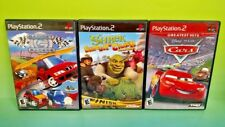 Cars, Shrek Smash Crash Racing Gadget Racers - PS2 PlayStation 2 Disney Game Lot