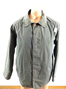 DSC MENS OLIVE COTTON BLEND BUTTON DOWN MESH LINING JACKET SIZE M REALLY NICE
