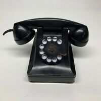 Vintage 1940s  Rotary Black Telephone Bell Systems Western Electric