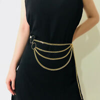 Women Alloy Waist Chain Statement Body Creative Chain Geometric Jewelry Tassels