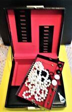 Schmuckkassette, Schmuckkasten  mit Modeschmuck Halskette Ohrringe