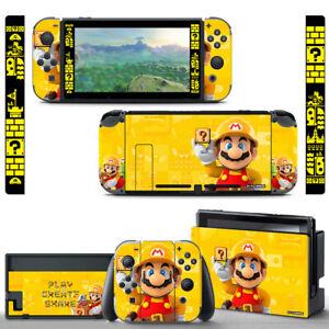 Nintendo Switch Vinyl Skin Super Mario Maker Decal Sticker & Screen Protector