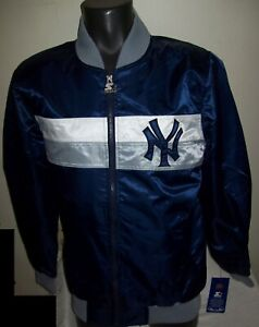 NEW YORK YANKEES MLB STARTER Full Zip Jacket Sping/Summer BLUE/GRAY