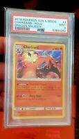 POKEMON PSA 9 MINT 2018 DRAGON MAJESTY CHARIZARD 3/70 HOLO RARE