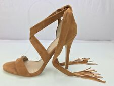 Marc Fisher Lauren Strappy Brown Suede Heel Sandals Womens Shoe Size 9.5M US