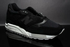 NEW BALANCE M998NJ BLACK WHITE SIZE: 8.5