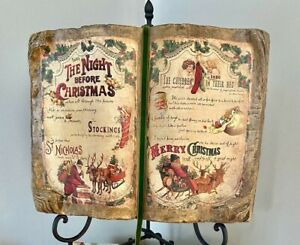 Bethany Lowe Night Before Christmas Book-Vintage Christmas Decor-Clement C Moore