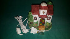 Lighted House Winter Chuch Christmas Village Cabin / House - Original Box