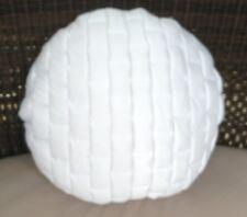 "White Mattoni Round Cushion Cover Clearance 16x16"" 40x40cm RRP $ 39.95"