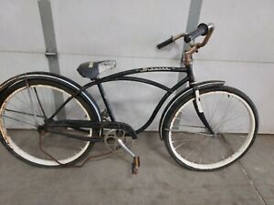"""1963 24"""" Schwinn Hollywood mens Bicycle black original condition project parts"""
