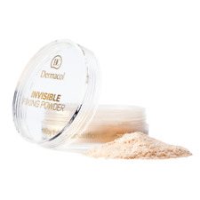 DERMACOL Invisible FIXING POWDER Velvet Finish Light/Natural/White 13g AUTHENTIC
