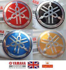 Yamaha Retro Vintage Metal Tank Emblem Badge 55mm *** GENUINE YAMAHA***