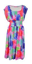 Isaac Mizrahi Women's Printed A-Line Chiffon Dress (6, Multi)