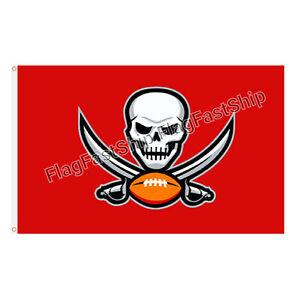 Tampa Bay Buccaneers 3x5 Flag NFL Skull Logo Banner Us Seller Fast FREE Shipping