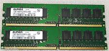 2 GB 2x1GB DDR2 PC2-6400 6400U DDR2-800 MHZ MEMORY DIMM PC DESKTOP RAM  240 PIN