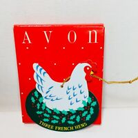 Avon The Twelve Days Of Christmas Ornaments Three French Hens