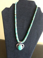 Jay King Turquoise and Lapis Heart Pendant Necklace $250 New W/ Tag