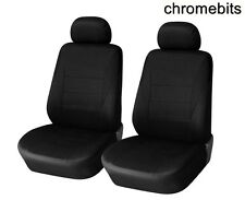 FRONT 1+1  BLACK FABRIC SEAT COVERS FOR NISSAN MICRA PRIMERA X-TRAIL MPV ALMERA