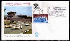 FRANCE FDC - 851 1761 5 CENTENAIRE DES 24 HEURES DU MANS flamme 2 6 1973