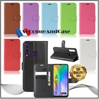 Coque Etui Housse Litchi Style Cuir PU Leather Stand Wallet Case Huawei Y6p