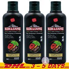 Kokliang Hair Herbal Darkening Thickening Shampoo Kok Liang 200ml x 3