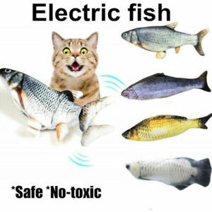 Electric USB Chaging Pet Cat Toys Realistic Interactive Fish Funny Cat Toys