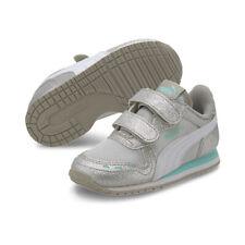 PUMA Cabana Racer Glitz V PS Inf Sneaker Schuhe Baby Mädchen Silber / Weiß