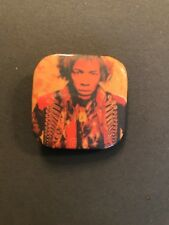 Vintage Promo Jimi Hendrix Promo Square Pin Back Button Nos Never Used
